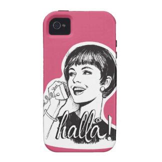 Hallå! – Retro Vintage – Woman on landline phone Vibe iPhone 4 Covers