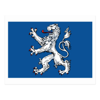 Hallands län flag postcard