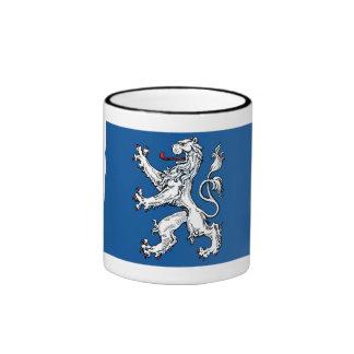 Hallands län flag ringer coffee mug
