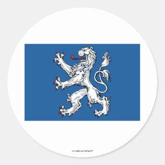 Hallands län flag classic round sticker