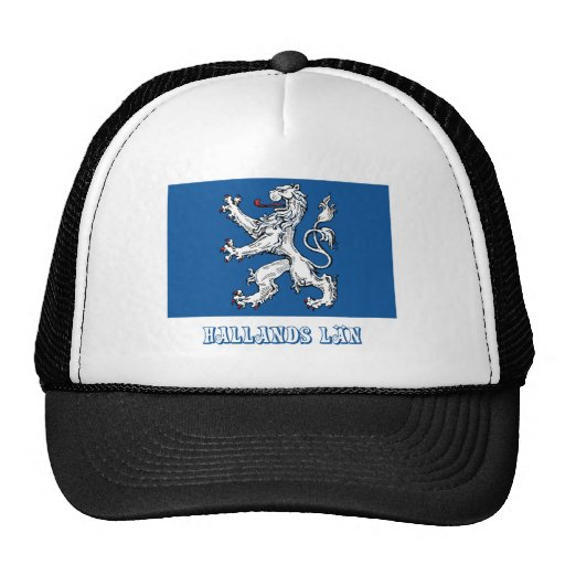 Hallands län flag with name hats