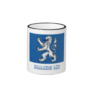 Hallands län flag with name ringer coffee mug