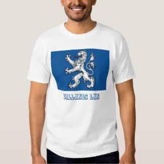 Hallands län flag with name tee shirt