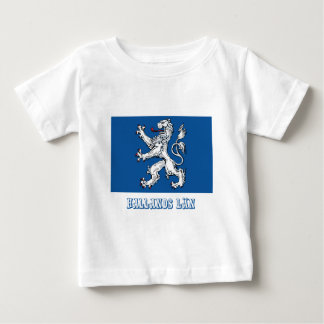 Hallands län flag with name t-shirts