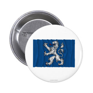 Hallands län waving flag 2 inch round button