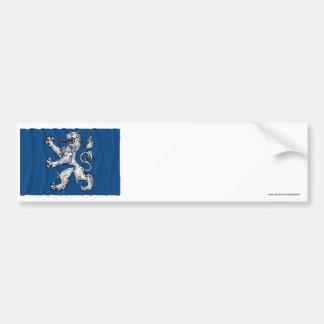 Hallands län waving flag car bumper sticker