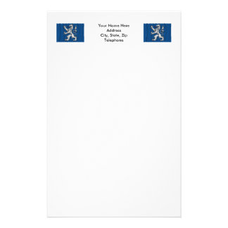 Hallands län waving flag personalized stationery