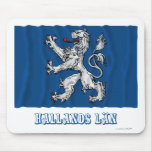 Hallands län waving flag with name mousepads