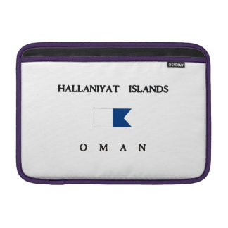 Hallaniyat Islands Oman Alpha Dive Flag MacBook Air Sleeve