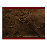Hallazgo arqueológico: Fresco asirio de la caza de Postales