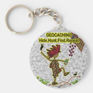 Hallazgo de la caza de la piel de Geocachnig Llavero Redondo Tipo Pin