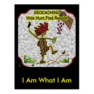 Hallazgo de la caza de la piel de Geocachnig Postal