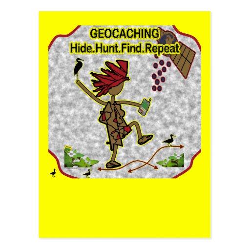 Hallazgo de la caza de la piel de Geocachnig Postales