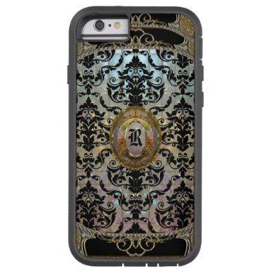 Halleesham Pattern II Elegant  Monogram Tough Tough Xtreme iPhone 6 Case
