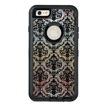 Halleesham Pretty Damask Pattern Protective OtterBox Defender iPhone Case