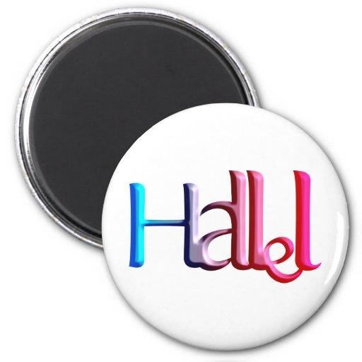 Hallel.png Imán Redondo 5 Cm