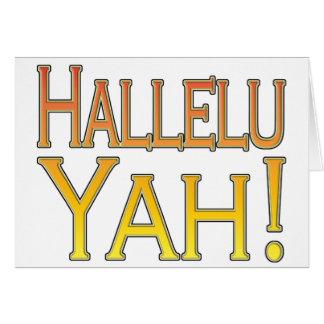Hallelu Yah! (gold) Card