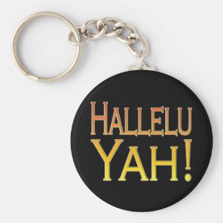 Hallelu Yah! (gold) Key Chain
