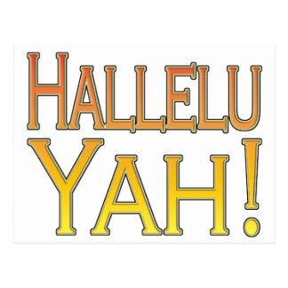 Hallelu Yah! (gold) Postcard