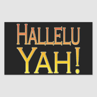 Hallelu Yah! (gold) Rectangular Sticker