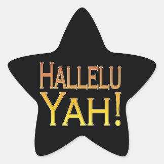 Hallelu Yah! (gold) Stickers