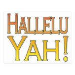 ¡Hallelu Yah! (oro) Postal