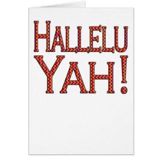 Hallelu Yah! (party) easter card