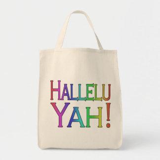 Hallelu Yah! (rainbow) Tote Bags