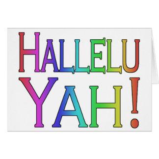 Hallelu Yah! (rainbow) Greeting Cards