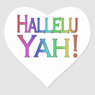 Hallelu Yah! (rainbow) Heart Sticker