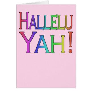 Hallelu Yah! (rainbow on pink) easter card