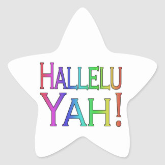 Hallelu Yah! (rainbow) Star Sticker