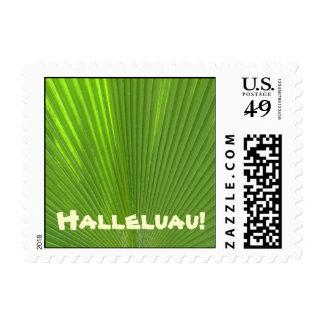 Halleluau!_Hawaiian Tropical Themed Party postage