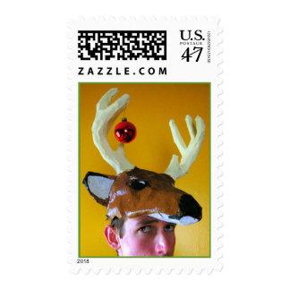 Halleluia! It's reining deer! Stamp