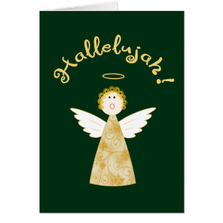 Hallelujah Angel Funny Christmas Holiday Greeting Card