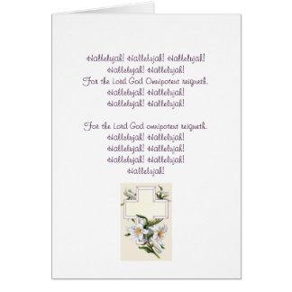 Hallelujah Chorus Easter Card