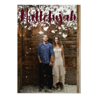 Hallelujah Christmas Holiday Card at Zazzle
