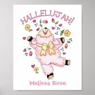 Hallelujah Dancing Lamb Poster