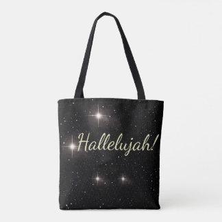 Hallelujah! Glows Among Stars Tote Bag