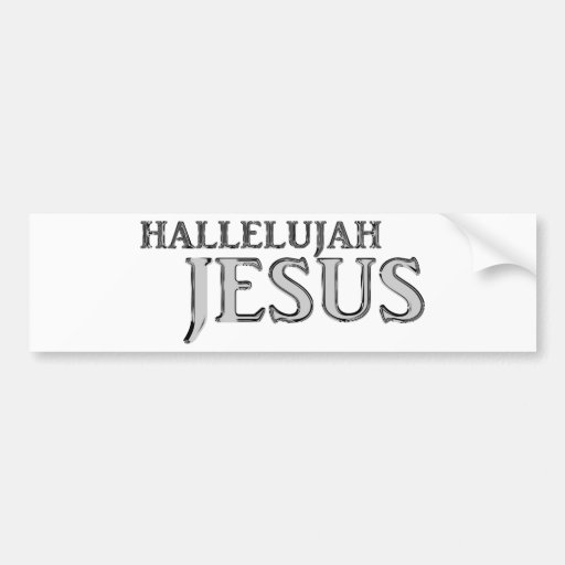 Hallelujah Jesús Pegatina De Parachoque