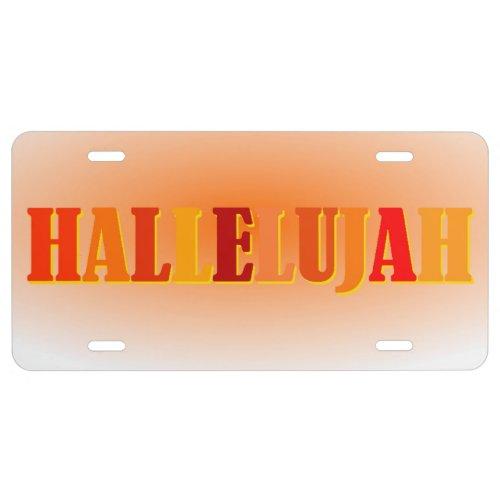 Hallelujah License Plate