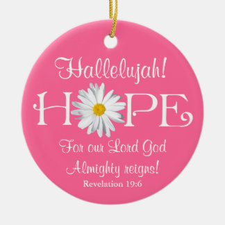 Hallelujah! Lord God reigns! Christmas Ornament