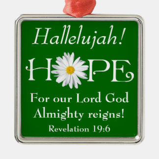 Hallelujah! Lord God reigns! Christmas Ornament 3