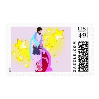 Hallelujah!! Our Savior Is Born Postage Stamp