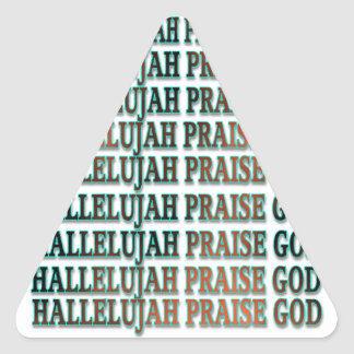 Hallelujah Praise God Stickers