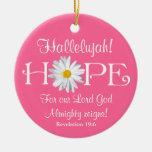 ¡Hallelujah! ¡Reinados de señor God! Ornamento del Ornamento Para Arbol De Navidad
