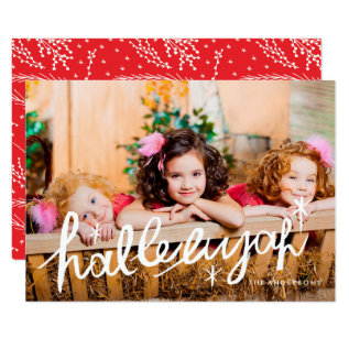 Hallelujah Religious Photo Card Lettering Type at Zazzle