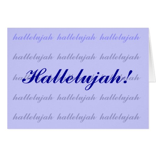 hallelujah tarjeta de felicitación