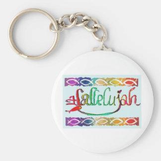 hallelujahFISH.jpg Basic Round Button Keychain