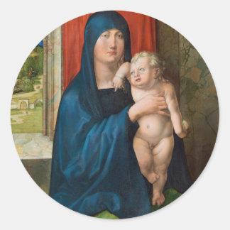 Haller Madonna Madonna and Child by Durer Round Sticker